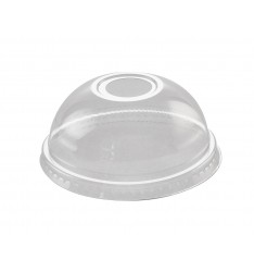 DOME LID FOR PET CUPS/95mm/50pcs (ISO)