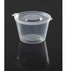 HINGED LID SAUCE CONTAINER PP 180ml/50pcs