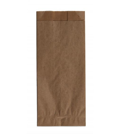 BROWN KRAFT PAPER BAGS UNPRINTED SIZE 7x19