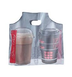 PLASTIC BAG FOR COFFEE DELIVERY (2 CUPS)/500pcs