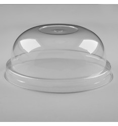 DOME LID CLEAR W/HOLE 8mm FOR PP CUPS/95mm/100pcs