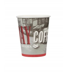 Single wall paper cup RED WOMAN 8oz/50pcs