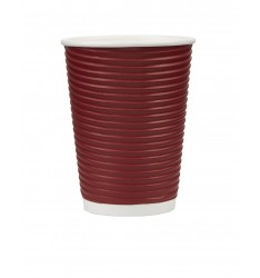 Ripple Paper Cup Red 12oz/25pcs