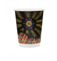 Double Wall Paper Cup TRIBAL Series 8oz/25pcs