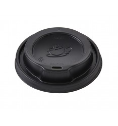 Black Traveler Lid To Fit 12-16oz Paper Cups