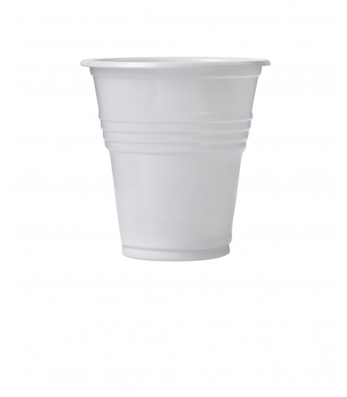 White Plastic Cup For Greek Coffee 160ml/50pcs