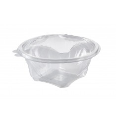 ROUND HINGED LID 1000ml PET CONTAINER