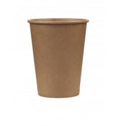 Χάρτινο ποτήρι Καφέ Κράφτ Μονού Τοιχώματος 8oz/50τεμ