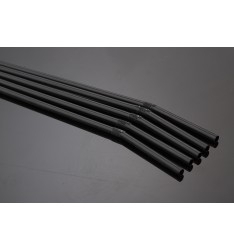 FLEXIBLE STRAW BLACK/24cm/100pcs