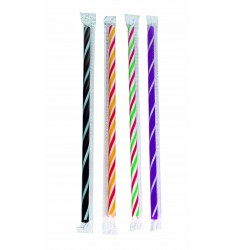 FLEXIBLE STRAW X-TREME/WRAPPED/24cm/100pcs