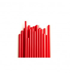 FLEXIBLE STRAW RED/24cm/1000pcs
