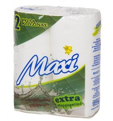 KITCHEN ROLL 2Χ120gr WHITE