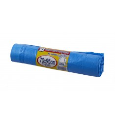 GARBAGE BAG CORD BLUE 70Χ95/ROLL10PCS