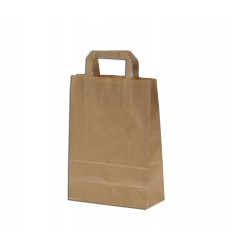 BROWN KRAFT PAPER BAG 30Χ22Χ10  WITH HANDLES