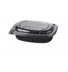 MICROWAVE CONTAINER BLACK 600cc COOK