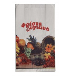 WHITE KRAFT PAPER GROCERY BAGS GENERAL PRINT SIZE 17x31