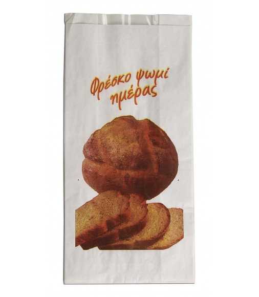 "WINDOW PAPER BREAD BAGS ""EASY PACK"" 17x34"