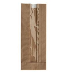 BROWN KRAFT WINDOW PAPER BAGS SIZE 12x27