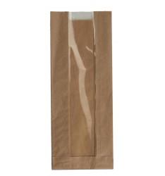 BROWN KRAFT WINDOW PAPER BAGS SIZE 12x34