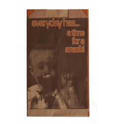 BROWN KRAFT PAPER BAKERY BAGS GENERAL PRINT SIZE 12x22
