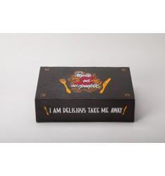 AUTOMATED FOOD BOXES  27Χ19Χ7,5cm TAKE ME AWAY SERIES/25pcs.