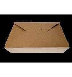 KRAFT PAPER FOLDER SHAPED CONTAINERS 3000cc/50pcs. (19,5x14x9)