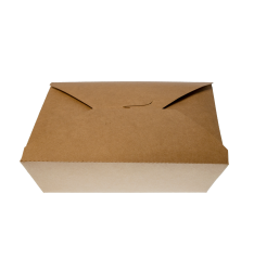KRAFT PAPER FOLDER SHAPED CONTAINERS 2000cc/50pcs. (19,5x14x6,3)