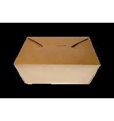 KRAFT PAPER FOLDER SHAPED CONTAINERS 1500cc/50pcs. (19,5x14x4,8)