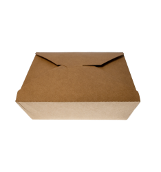 KRAFT PAPER FOLDER SHAPED CONTAINERS 1400cc/50pcs. (15x12x6,3)
