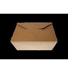 KRAFT PAPER FOLDER SHAPED CONTAINERS 1200cc/25pcs. (11x10,5x9)