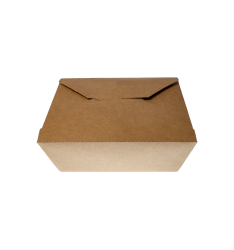 KRAFT PAPER FOLDER SHAPED CONTAINERS 1000cc/50pcs. (15x12x5)