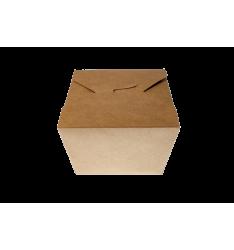 KRAFT PAPER FOLDER SHAPED CONTAINERS 800cc/50pcs. (11,2x9x6,4)