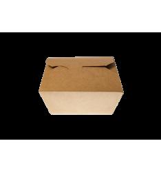 KRAFT PAPER FOLDER SHAPED CONTAINERS 750cc/50pcs. (15,1x12x4)