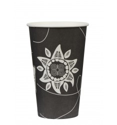 Single wall paper cup SUN 16oz/50pcs