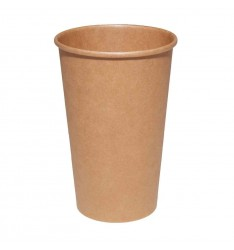 Χάρτινο ποτήρι Καφέ Κράφτ Μονού Τοιχώματος 16oz/50τεμ