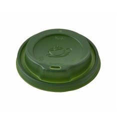 Green Traveler Lid To Fit 8oz Paper Cups
